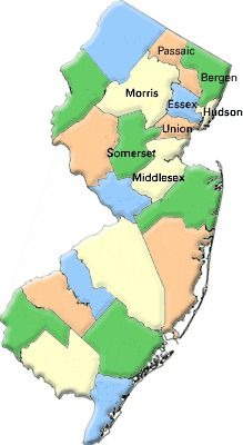 Areas Covered - Bergen, Essex, Hudson, Middlesex, Morris, Passaic, Somerset, Union